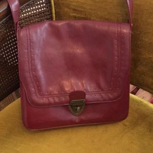 Red Faux Leather Bohemian Purse
